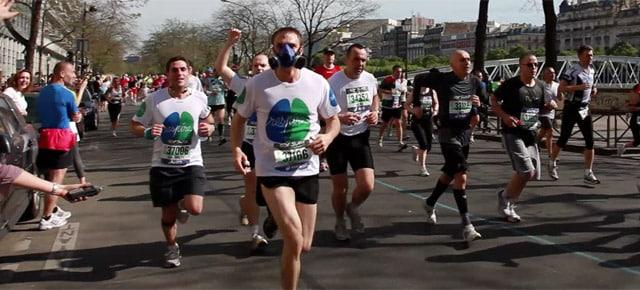 THIBAUT respire au marathon de Paris 2011