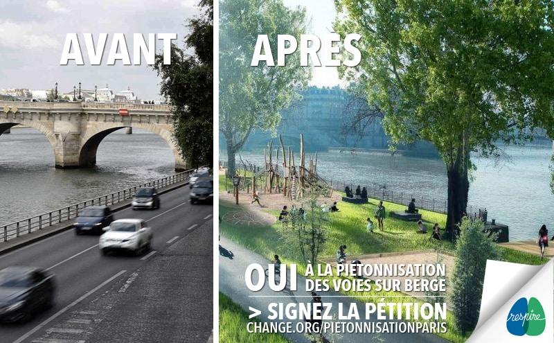 Piétonisation des berges de Paris - Respire