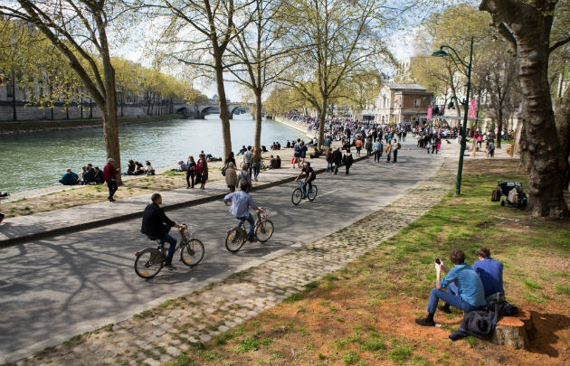Berges - parc rives de Seine - Paris